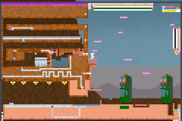 samurai aliens Pixel Art