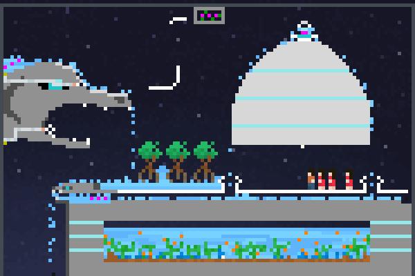 Atlantis Ends Pixel Art