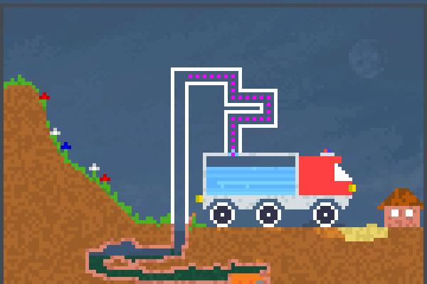 My fire truck Pixel Art