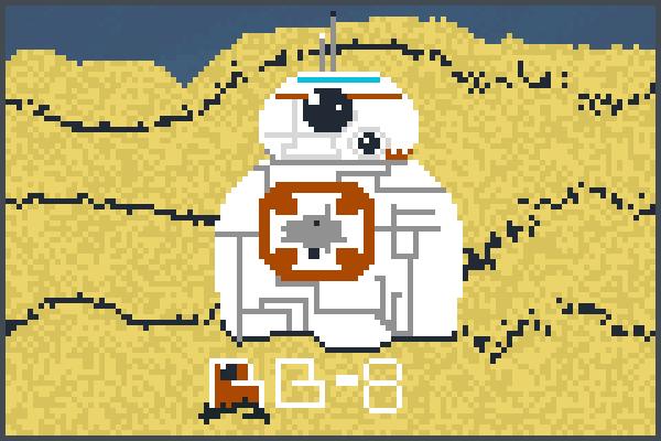 Star Wars bb 8 Pixel Art