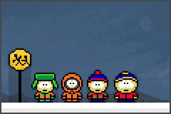 South Park bus Pixel Art