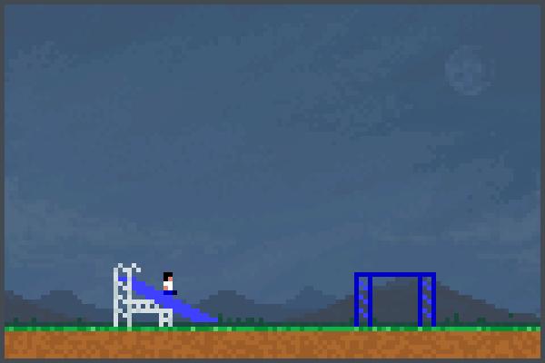 Juego en patio Pixel Art