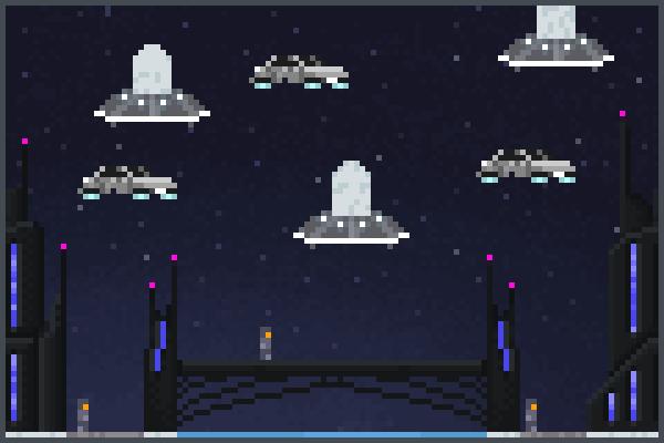 Futuristc Pixel Art