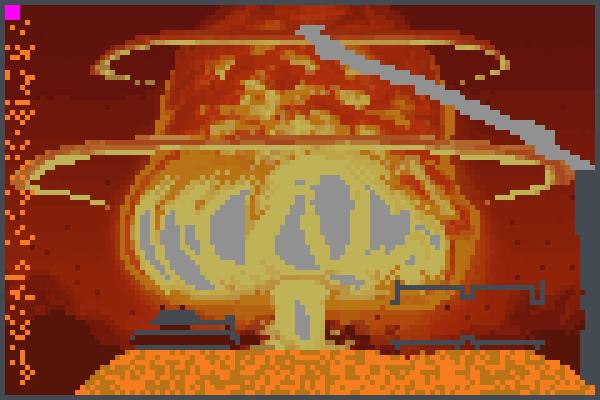 Nuclear W Pixel Art