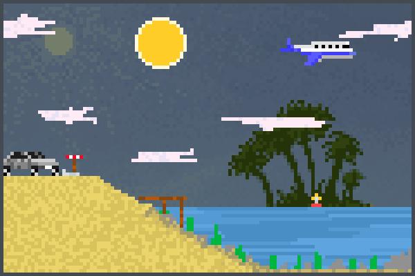 Beach A Pixel Art