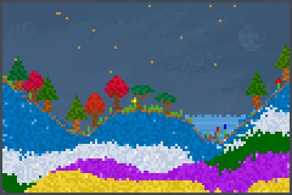 raInbOw HIlL wo Pixel Art