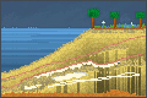 Da Beach lll Pixel Art