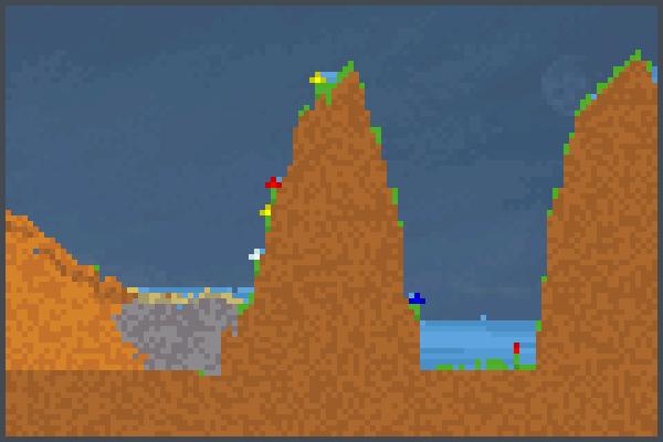 Los cerros  Pixel Art