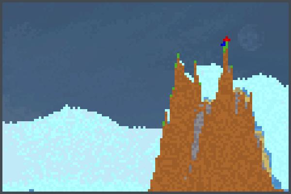 snowie mowntan Pixel Art