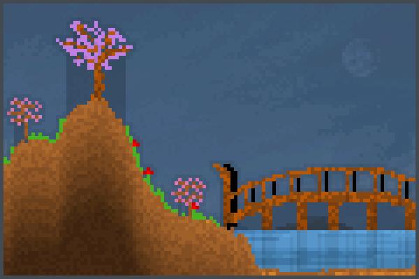 Cherry Bridge Pixel Art