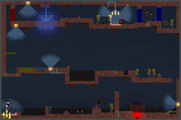 Wily Stage Five Pixel Art