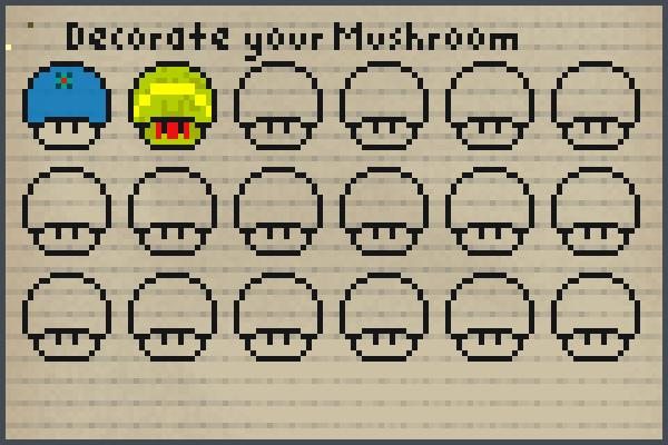 mushrooms co op Pixel Art