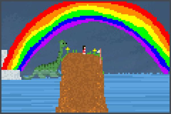 dino e mina  Pixel Art