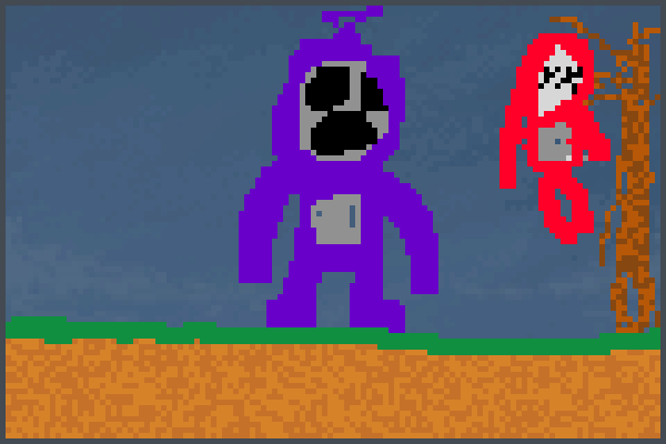 tinky winky Pixel Art