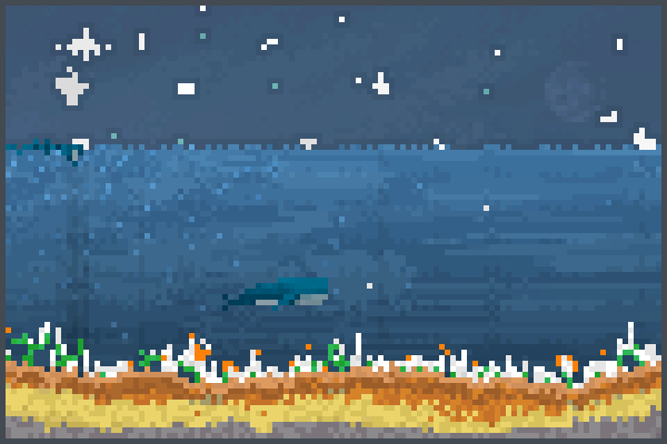 okean pervyi Pixel Art