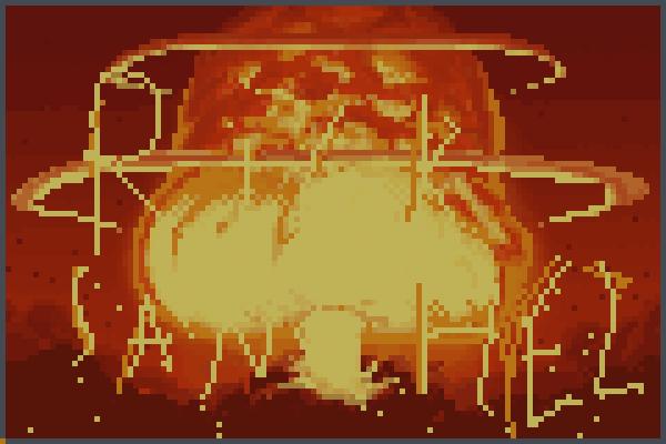 Rick bomba Pixel Art