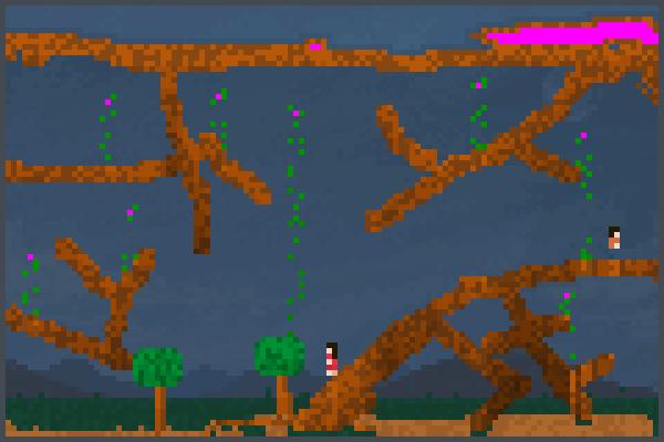 dans les arbres Pixel Art