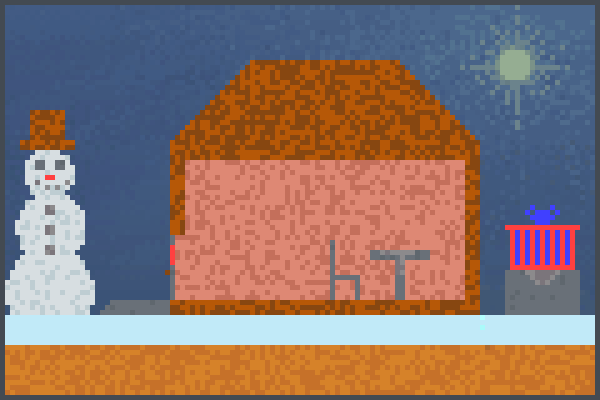 Cold day .. Pixel Art