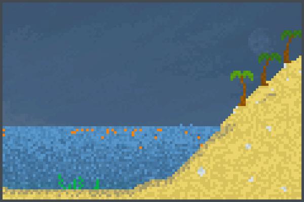 beach update it Pixel Art