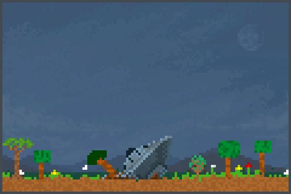 ufo field crash Pixel Art