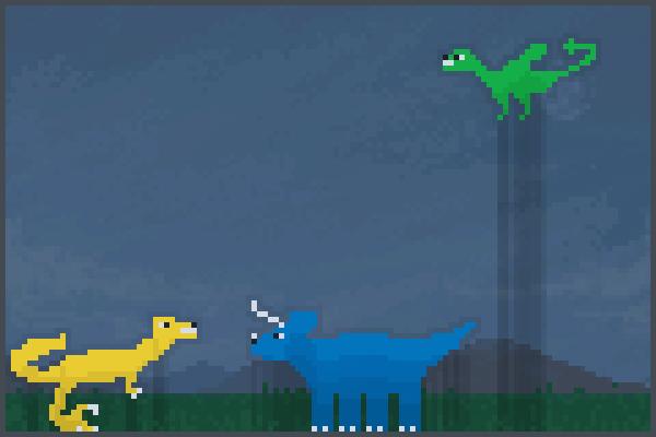 Dino pixelart 2 Pixel Art