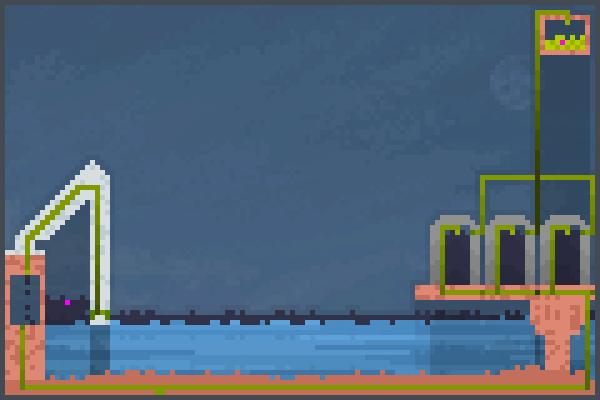 Fates oil rig Pixel Art