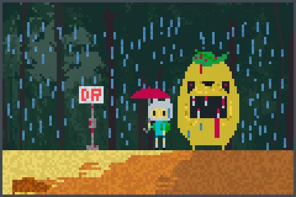 demon totoro Pixel Art