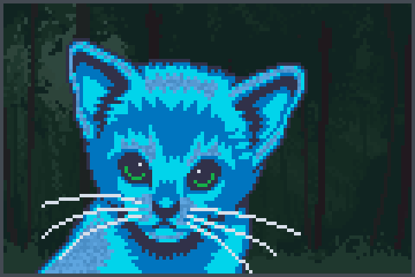 chat mamie Pixel Art