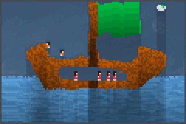 ship and hint Pixel Art