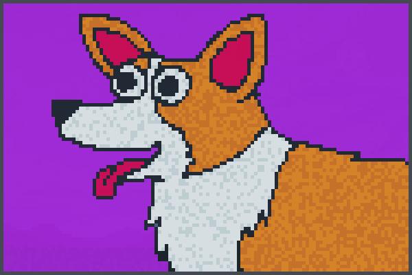 Corgi dog Pixel Art