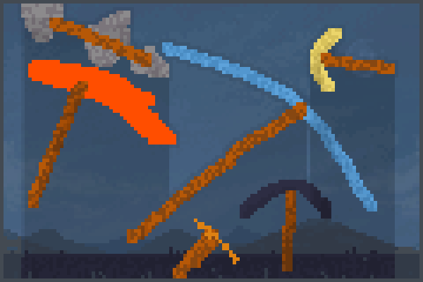 Preview pickaxes dude  World