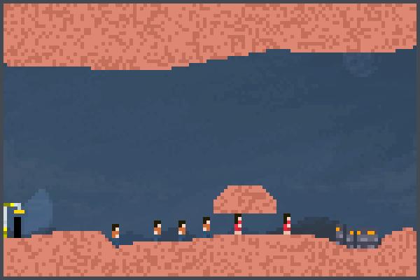 bot vs players Pixel Art