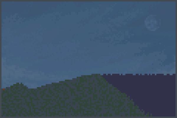 black beach Pixel Art