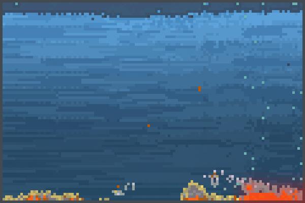 my world  sea ] Pixel Art