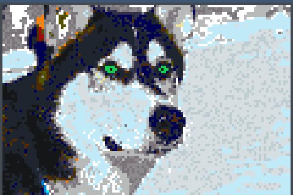 marlondack wolf Pixel Art