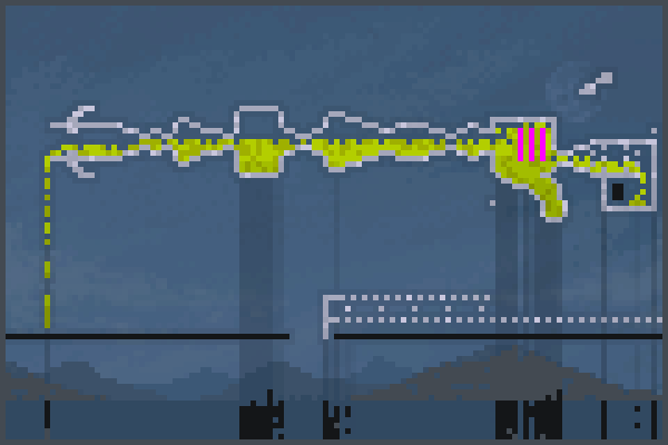spilling Pixel Art